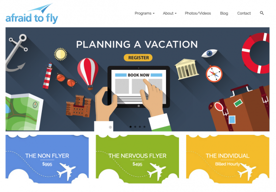 Afraid to fly is online